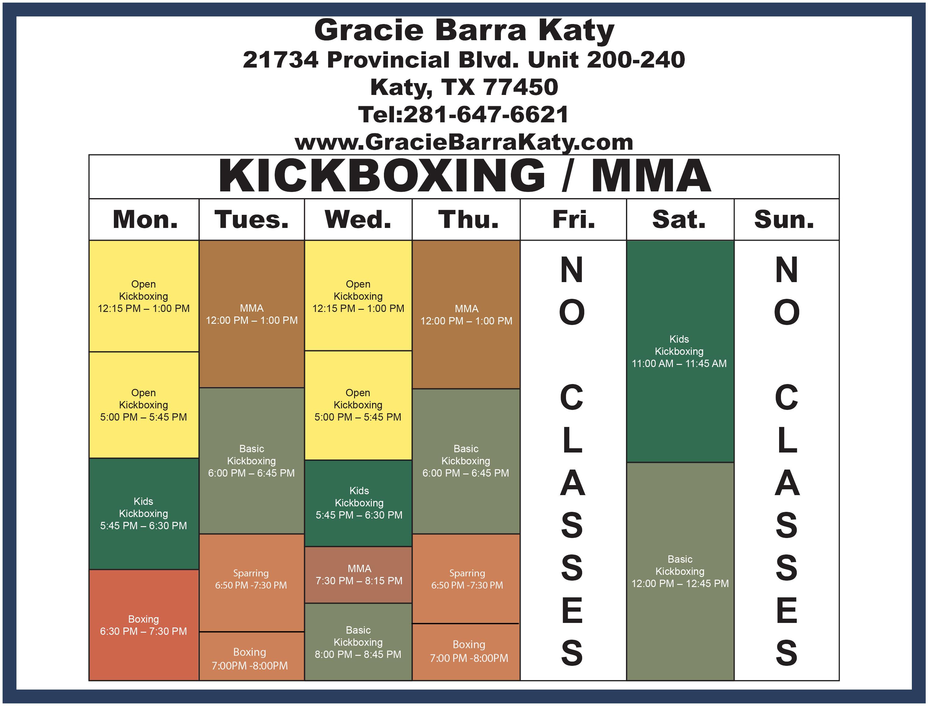 Gracie Barra Katy Schedule